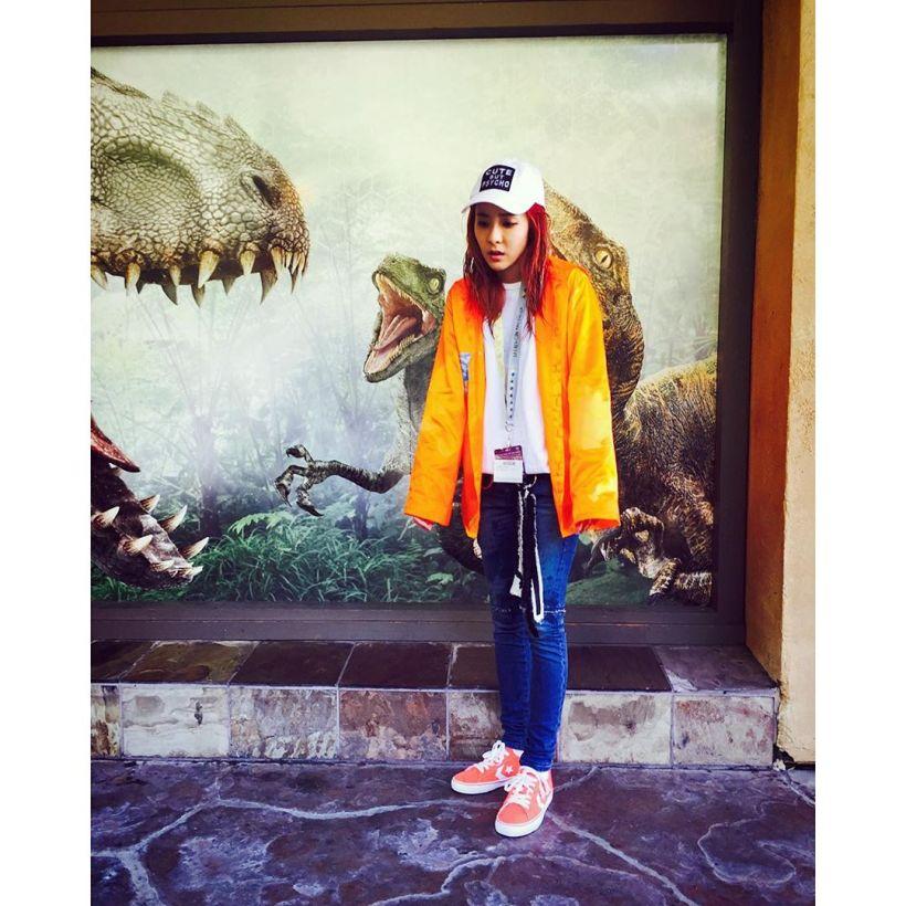 Dara : Tout comme une souris trempée, lorsque je fais ce genre d'attractions, il y a toujours une chute d'eau à un moment donné !!! Ah c'est rafraîchissant~~ 😭💦